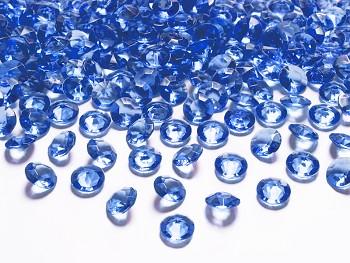 Dekorační mini diamanty tmavě modré-bal.100ks