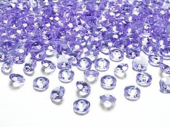 Dekorační mini diamanty světle fialové-bal.100ks