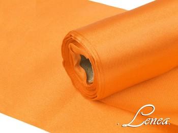 Satén v roli š.16cm oranžový