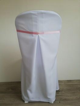 Potah Elegant bílý kulaté opěradlo-Lenea