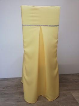 Potah Elegant banánový se štrasovým páskem 1cm-Lenea