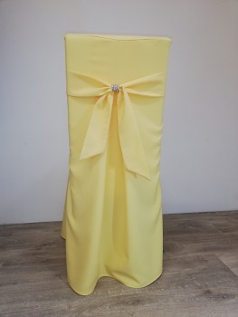 Potah Elegant banánový s vazačkou a krožkem-Lenea