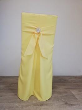 Potah Elegant banánový s vazačkou a broží-Lenea