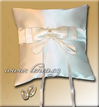 Svatební polštářek na prstýnky-Cream 1