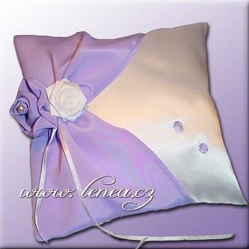 Svatební polštářek na prstýnky-Lila 3