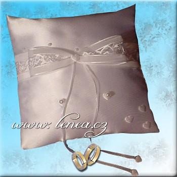 Svatební polštářek na prstýnky-White 1