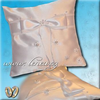Svatební polštářek na prstýnky-White 2