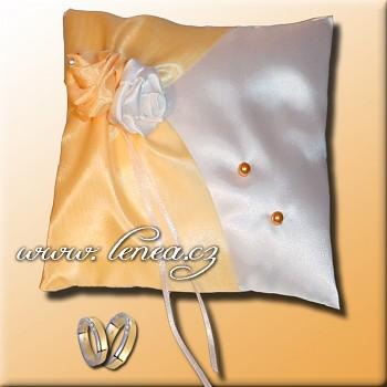 Svatební polštářek na prstýnky-Orange 3