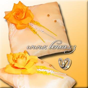 Svatební polštářek na prstýnky-Orange 9