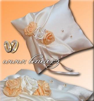 Svatební polštářek na prstýnky-Orange 1