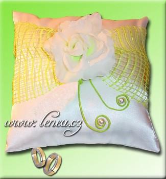 Svatební polštářek na prstýnky-Green 2