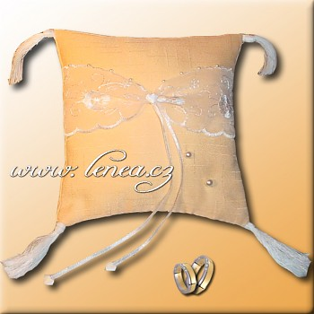 Svatební polštářek na prstýnky-Orange 8