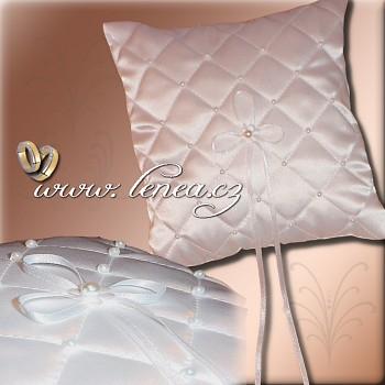 Svatební polštářek na prstýnky-White 3