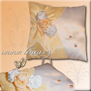 Svatební polštářek na prstýnky-Orange 2