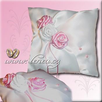 Svatební polštářek na prstýnky-Pink 1