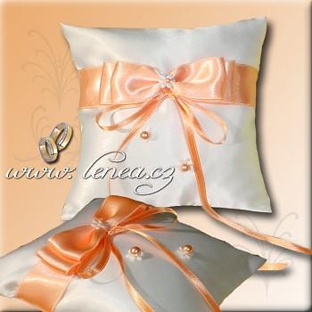 Svatební polštářek na prstýnky Orange 5