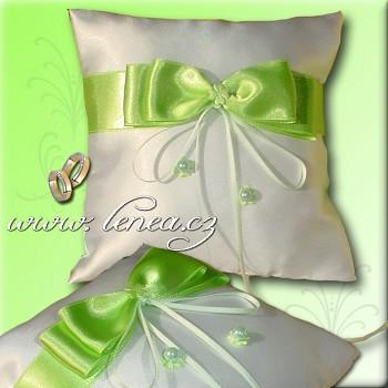 Svatební polštářek na prstýnky-Green 3