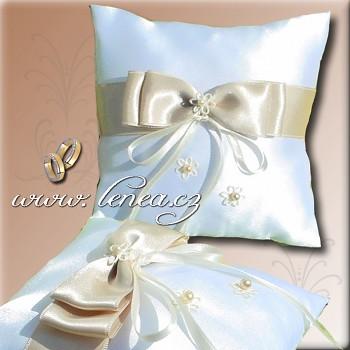 Svatební polštářek na prstýnky-CHampagne 2