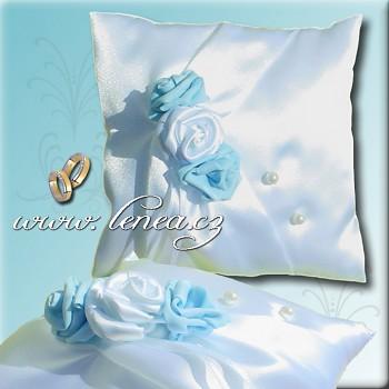 Svatební polštářek na prstýnky-Blue 4