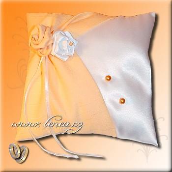 Svatební polštářek na prstýnky- Orange 10
