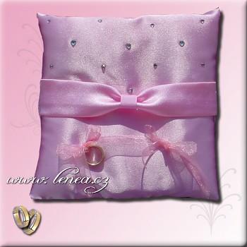 Svatební polštářek na prstýnky-Pink 6