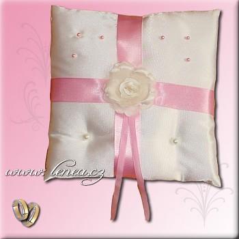 Svatební polštářek na prstýnky-Pink 7
