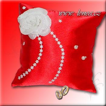 Svatební polštářek na prstýnky-Red 5