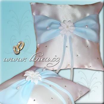 Svatební polštářek na prstýnky-Blue 5