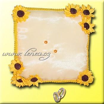 Svatební polštářek na prstýnky-Yellow 2