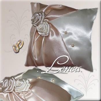 Svatební polštářek na prstýnky-CHampagne 1