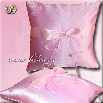 Svatební polštářek na prstýnky-Pink 9