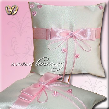 Svatební polštářek na prstýnky-Pink 10