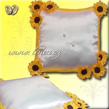 Svatební polštářek na prstýnky-Yellow 3