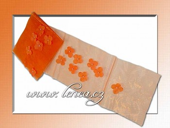 Organza-Oranžový běhoun
