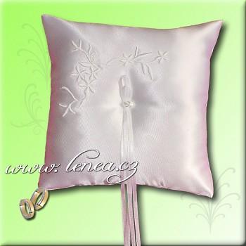 Svatební polštářek na prstýnky-White 5