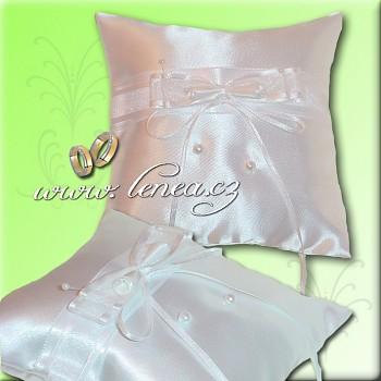 Svatební polštářek na prstýnky-White 6