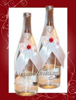 Dekorace na láhev-White 2