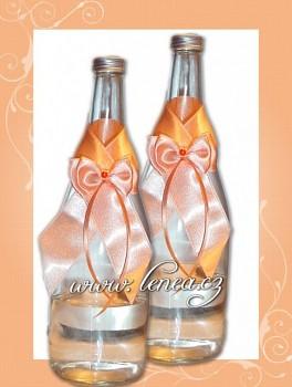Dekorace na láhev-Orange 1