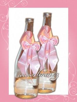 Dekorace na láhev-Pink 1