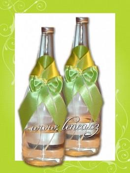 Dekorace na láhev-Green 1