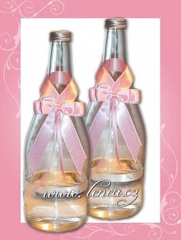 Dekorace na láhev-Pink 2