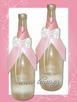 Dekorace na lahev-Pink 3-čtyřlístek