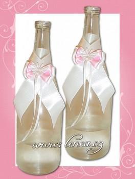 Dekorace na láhev-Pink 4-motýlek