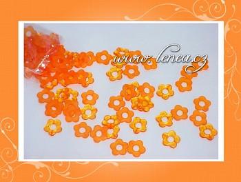 Kytičky plastové-oranžové