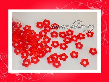 Kytičky plastové-červené