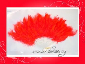 Vějíř péřový-červený