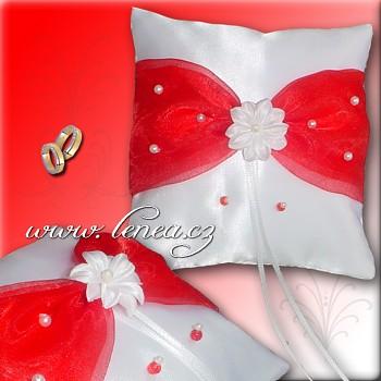 Svatební polštářek na prstýnky-Red 4