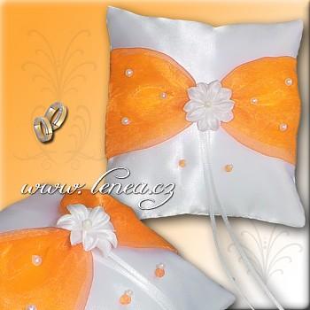 Svatební polštářek na prstýnky-Orange 4