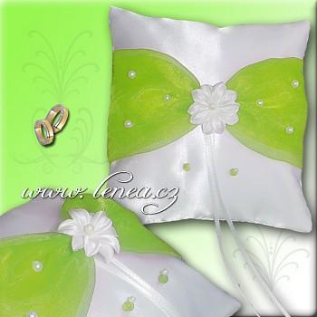 Svatební polštářek na prstýnky-Green 6