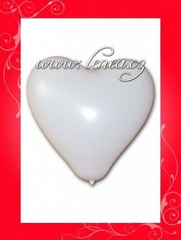 Balónek nafukovací-srdce bílé